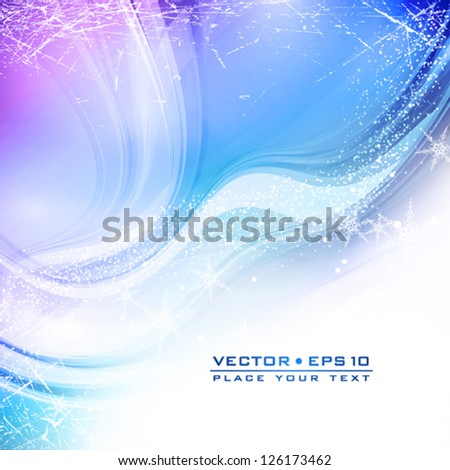 Frosty winter morning. An abstract soft celebratory background. Vector