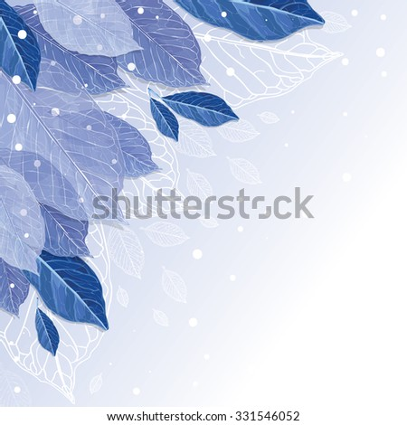 frozen autumn leaves covered