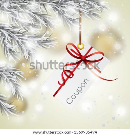 frozen fir twigs with a