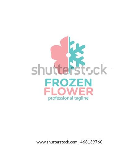 frozen flower logo
