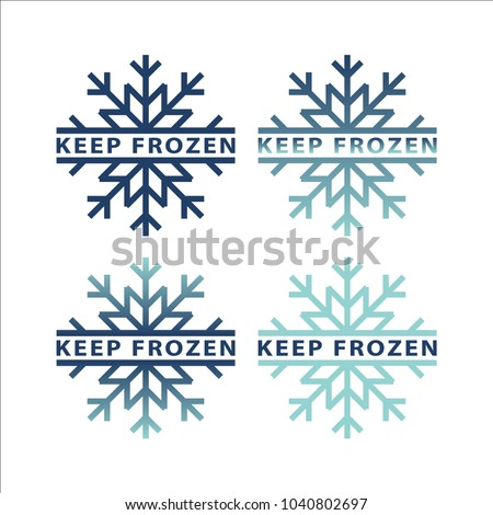 frozen product label icons
