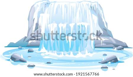 frozen river waterfall falls