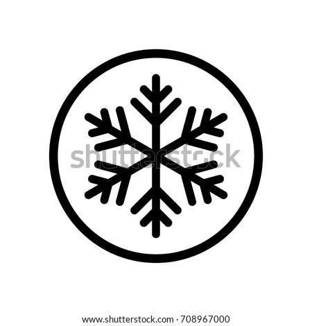 frozen snowflake sign   icon