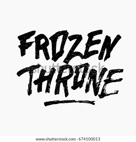 frozen throne ink hand