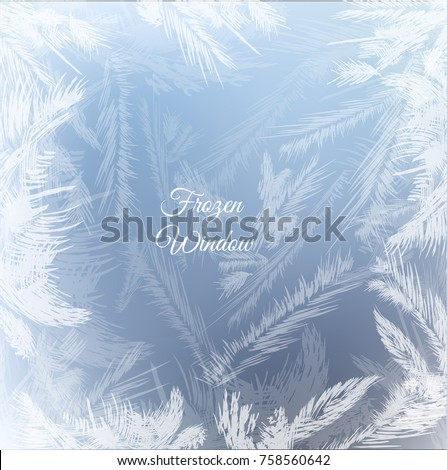 frozen window background with