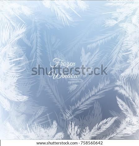 frozen window background with