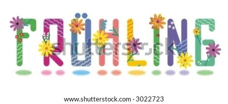 Fruhling - Spring (German Language) Alphabet Mini Set Of Beautiful ...