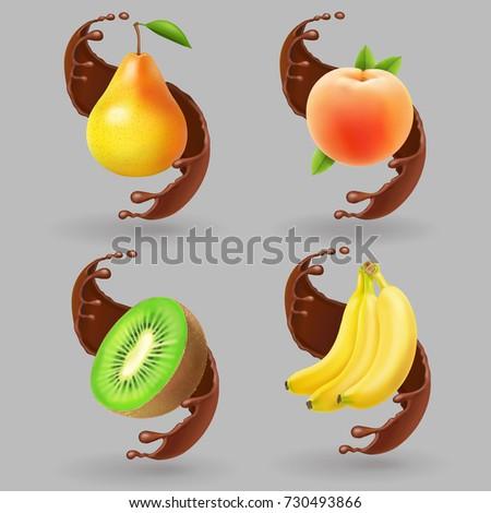 fruit and chocolate splash