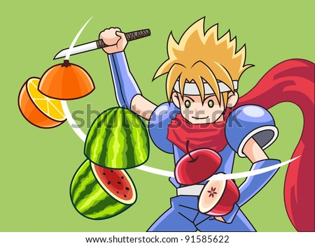 fruit and ninja
