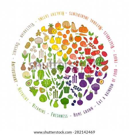fruit and vegetables color