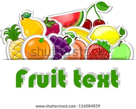 Fruit background, vector illustration for your design