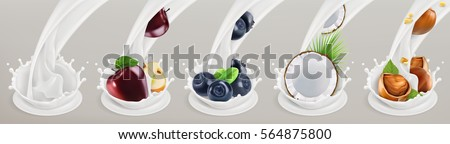fruit  berries and yogurt