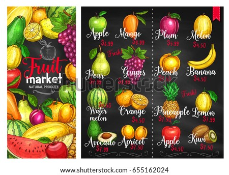 fruit chalkboard poster fruit