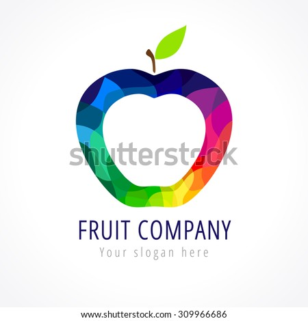 fruit company vector logo