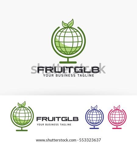 fruit globe  symbol  green