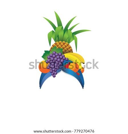 fruit hat template   vector