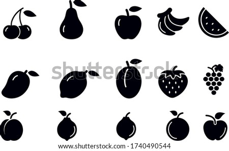 fruit icons  vector design