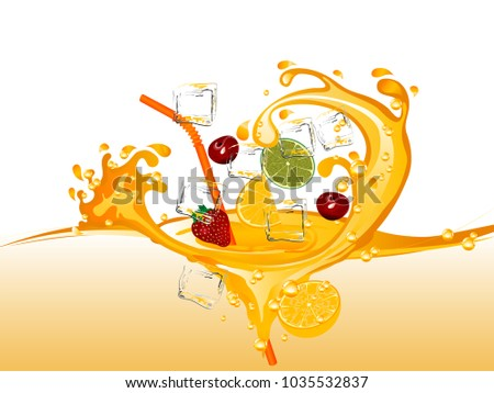 fruit juice with orange