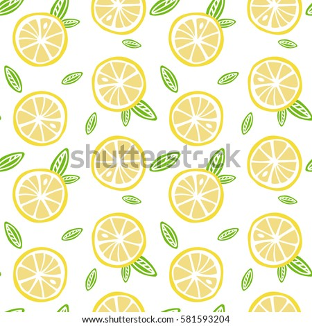 fruit lemon with green leaves