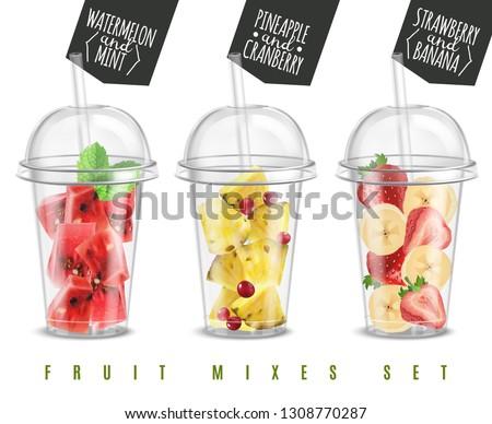 fruit mix 3 realistic summer