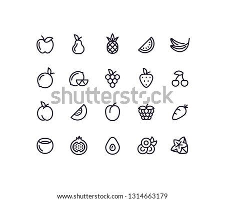 fruit outline icons