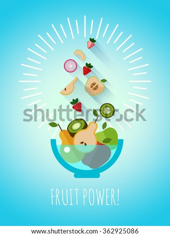 fruit power  sweet healthy