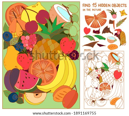 fruit puzzle hidden items for