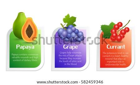 fruit's benefits papaya  grape