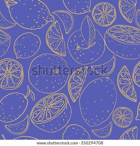 fruit seamless pattern of