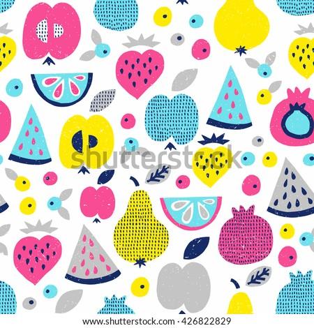 fruit seamless pattern surface