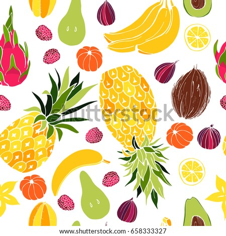 Fruit. Seamless vector pattern