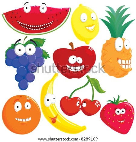 Fruit set - stock vector