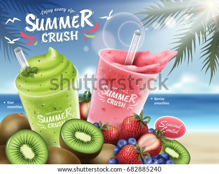 fruit smoothies ads  kiwi and