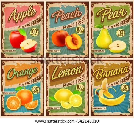 fruit vintage banner