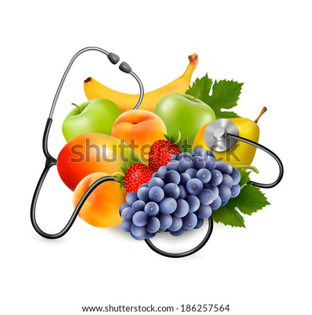 fruit with a stethoscope