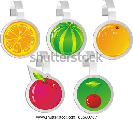 Fruit wobbler - stock vector