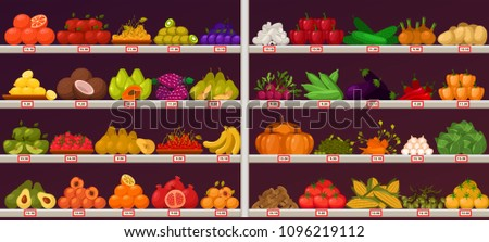 Fruits and vegetables at shop stall