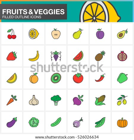 fruits and vegetables line
