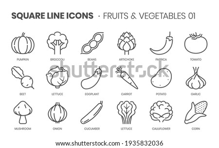 fruits and vegetables one
