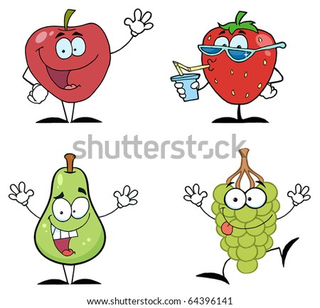 date fruit cartoon. Veg cartoon characters