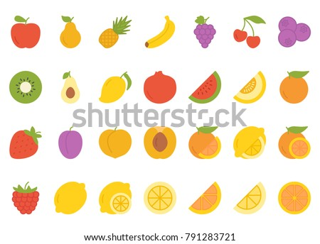 Fruits flat icon