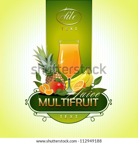 Fruits. Fresh juice. Vector