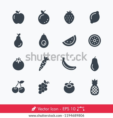 fruits related icons   vectors