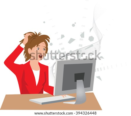 frustrated woman at a crashed