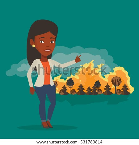 frustrated woman standing on