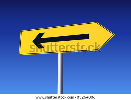 Frustration - Mistake with road sign - stock vector
