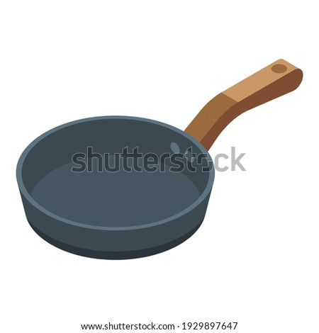 Frying pan icon. Isometric of frying pan vector icon for web design isolated on white background Foto stock ©