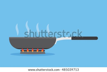 Shutterstock frying pan on fire in the process of frying