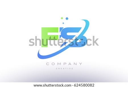 fs f s alphabet green blue