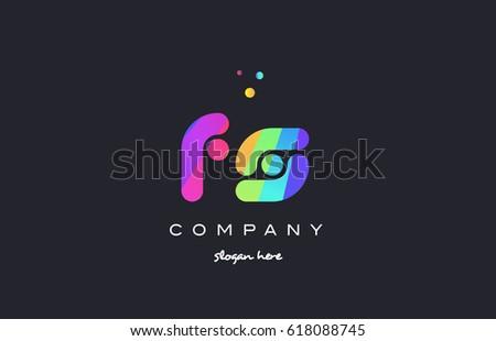fs f s  creative rainbow green